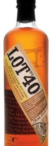 Lot 40 canadian rye whisky bottle