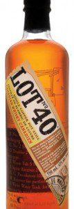 Lot 40 canadian rye whisky bottle
