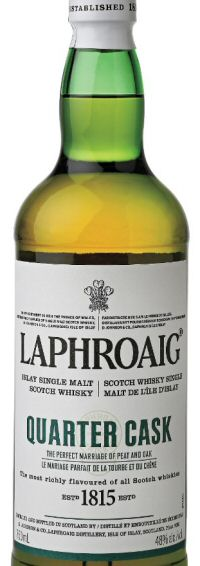 Laphroaig Quarter Cask whisky bottle